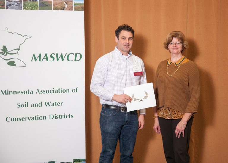 Jake of Pettit Pastures receives conservation award.