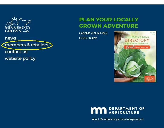 Location of member resources at MinnesotaGrown.com