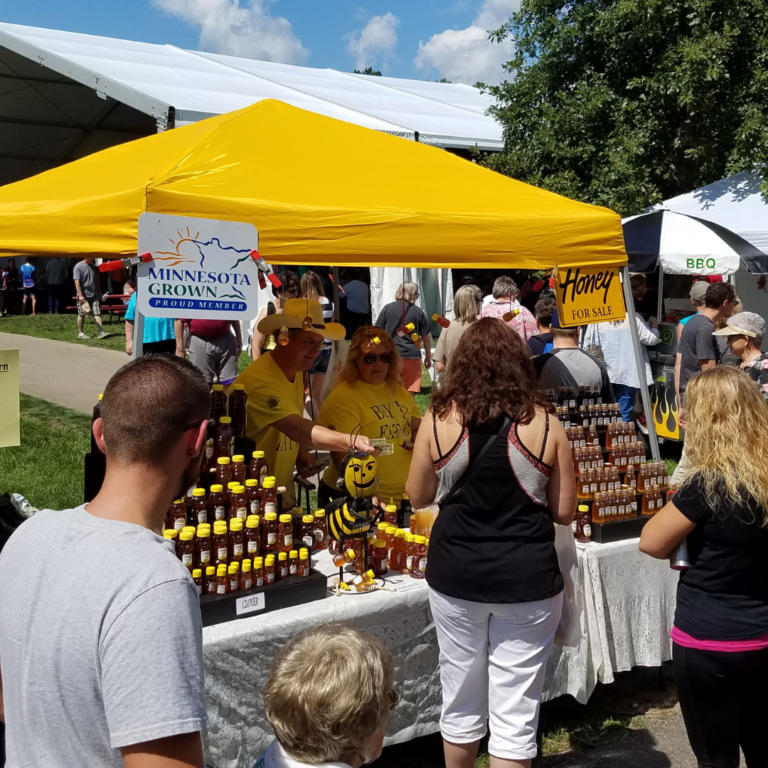 Honey vendors at 2017 Garlic Festival