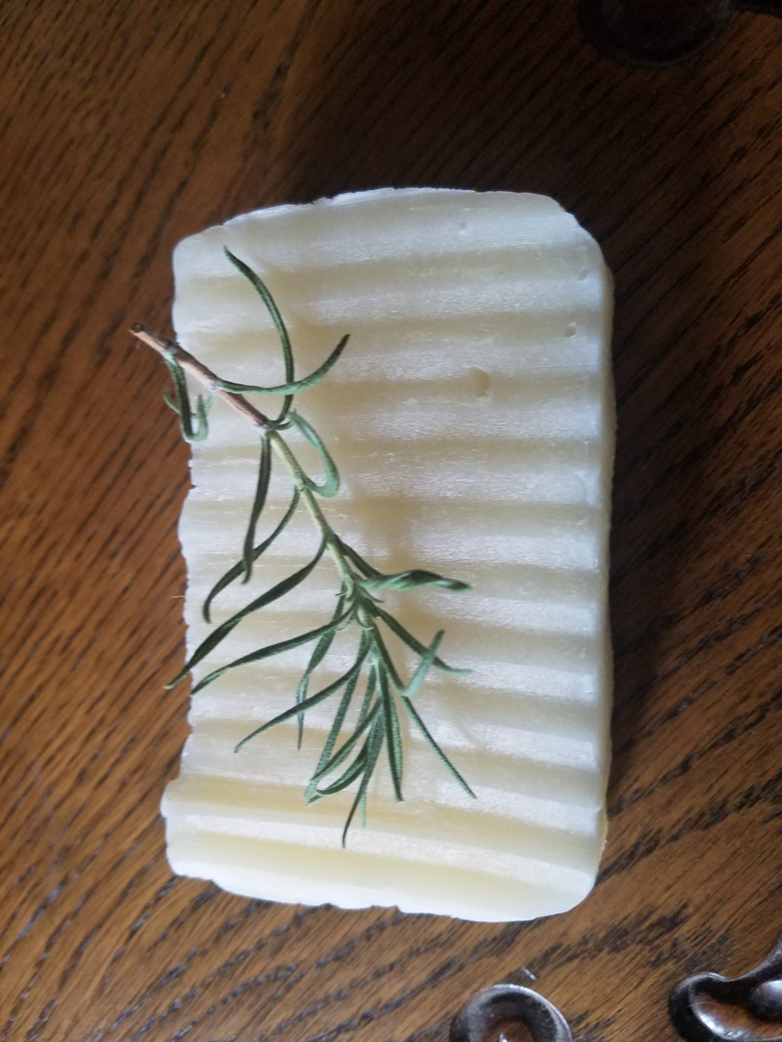 a bar of rosemary soap