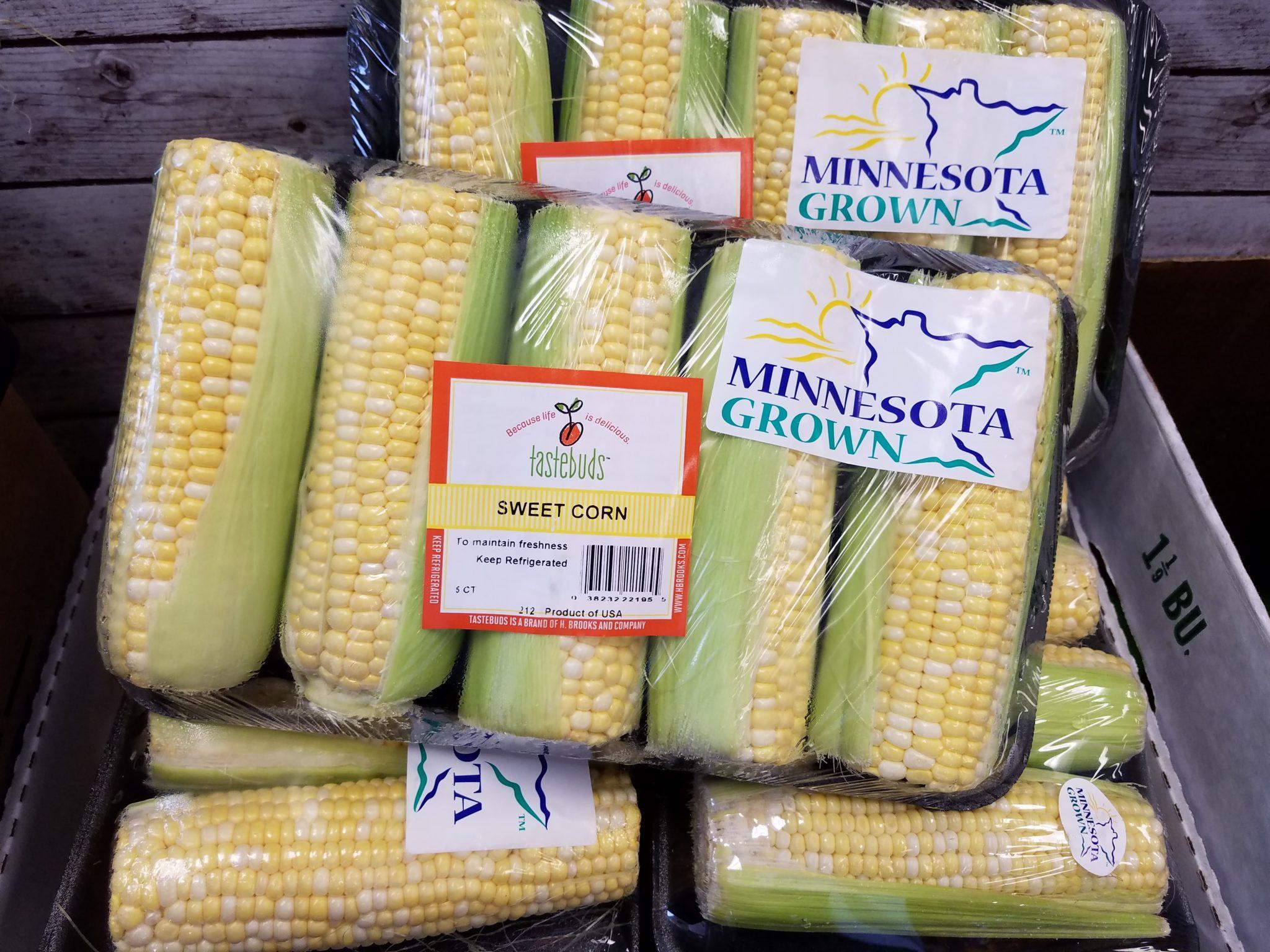 sweet corn packs with the minnestoa grown logo