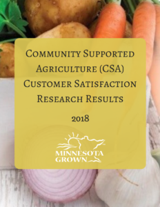 Community Supported agriculture CSA customer satisfaction research results 2018