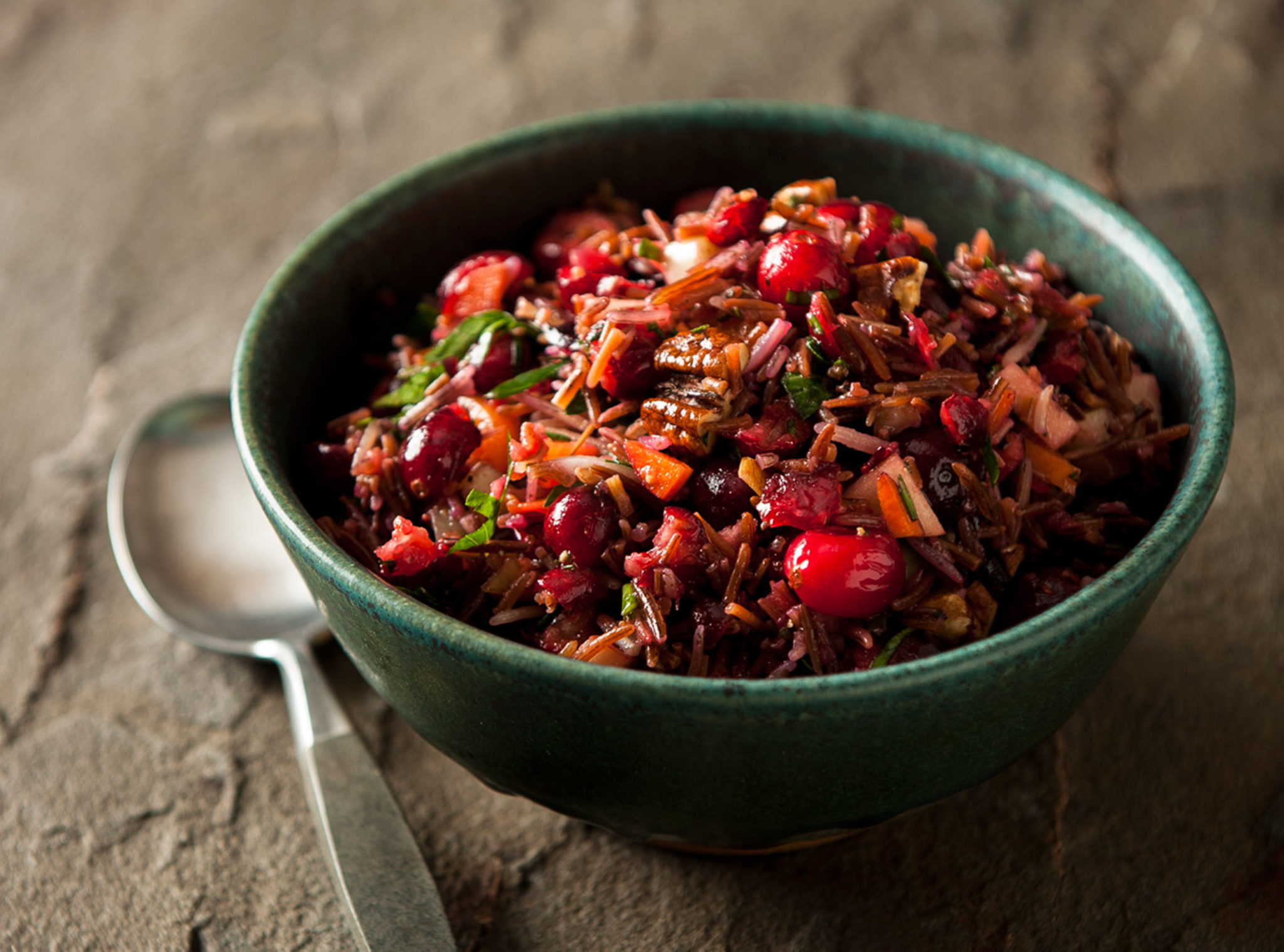 wild rice pilaf with walnuts and cranberries