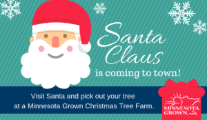 Visit santa claus and pick out your tree at a local christmas tree farm