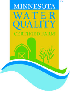 Minnesota Water Quality certification logo showing water flowing by a farm