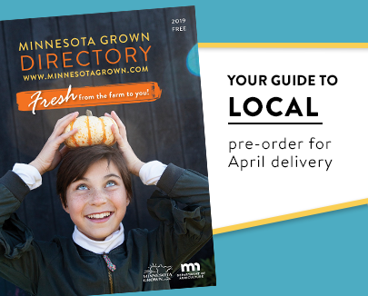 your guide to local, pre order your Minnesota Grown directory for delivery in april